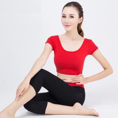 厂家直销新款夏 四针六线瑜伽服莫代尔套装 运动背心短裤健身服女