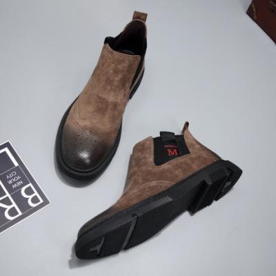 切尔西靴男士秋季鞋子潮鞋马丁靴男靴英伦风高帮百搭休闲鞋短靴子