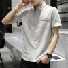 促销衬衣2019夏季新品条纹时尚休闲男装外贸职业工装男士短袖衬衫