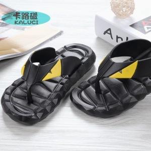 夏季韩版情侣休闲人字拖鞋 防滑耐磨舒适菱形小怪兽人字拖鞋 批发