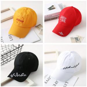 2019韩版新款棒球帽鸭舌帽男女刺绣字母棉质春夏休闲户外运动帽子