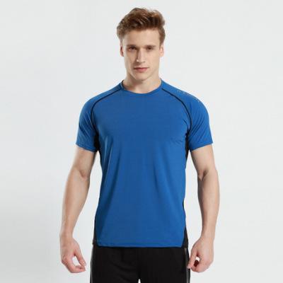 猎星厂家新款锦纶运动休闲健身速干跑步训练服短袖圆领T恤90100