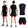 背心运动套装男士健身衣速干背心套装紧身透气无袖集训服套装夏季