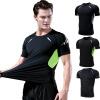 爆款运动上衣男新款弹力透气短袖健身服男篮球训练服男士速干衣