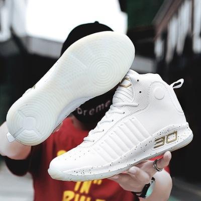 库里篮球战靴高帮男鞋跨境耐磨透气休闲情侣小白鞋学生运动篮球鞋