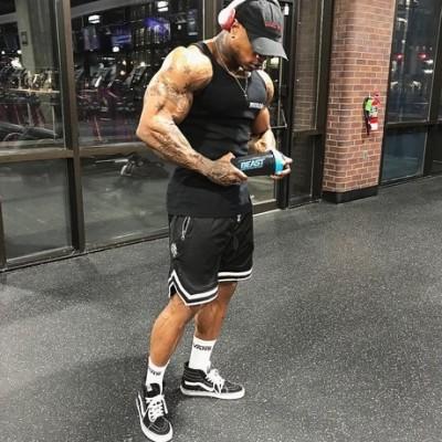肌肉博士男士速干运动短裤夏季跑步运动篮球训练透气健身五分裤