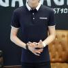 夏季新款男装polo衫纯色韩版潮流青少年t恤男式小翻领短袖男士T恤