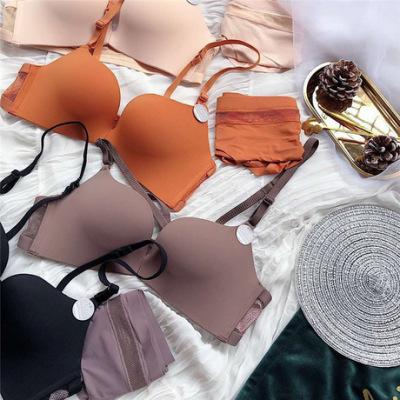 346春夏新款法式前扣美背无钢圈 聚拢文胸套装5种穿法鱼网孔性感