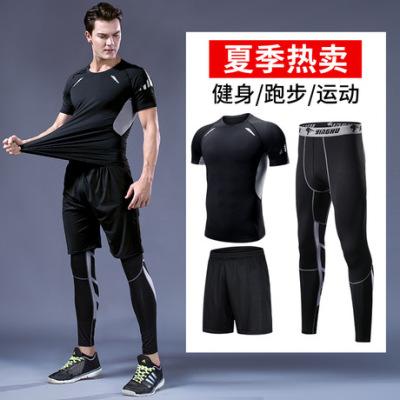 运动t恤 速干健身衣 吸湿排汗圆领健身短袖 跑步户外运动服男