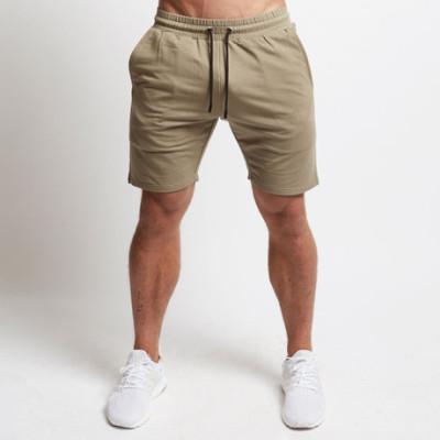 肌肉兄弟 新款男士光板 运动休闲短裤 跑步健身 系带五分纯色短裤