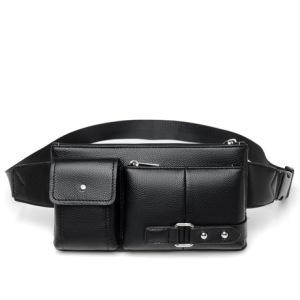 厂家直销新款男士腰包多功能手机零钱包胸包斜挎包