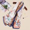 新款高档丝绸真丝丝巾女 欧美大牌印花桑蚕丝 沙滩防晒披肩围巾