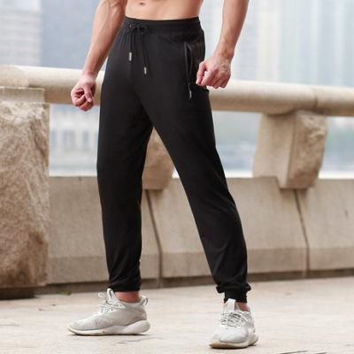 速干运动裤跑步训练健身长裤反光条收口小脚裤薄款运动休闲裤7018