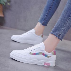 皮面小白鞋女2019春款百搭基础夏季新款白鞋休闲板鞋透气夏款潮鞋