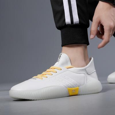 网红男鞋夏季潮鞋2019新款运动休闲鞋白色板鞋果冻底百搭小白鞋男