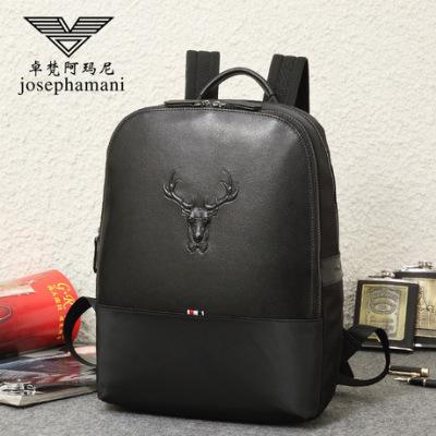 卓梵 阿玛尼双肩包男士真皮背包牛皮旅行包电脑包韩版潮