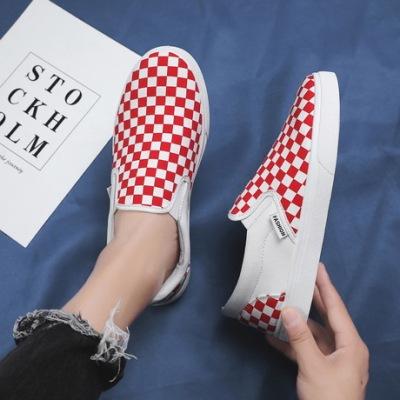 兜川春夏季男士帆布鞋韩版拼色一脚蹬懒人鞋板鞋透气休闲鞋潮DC31