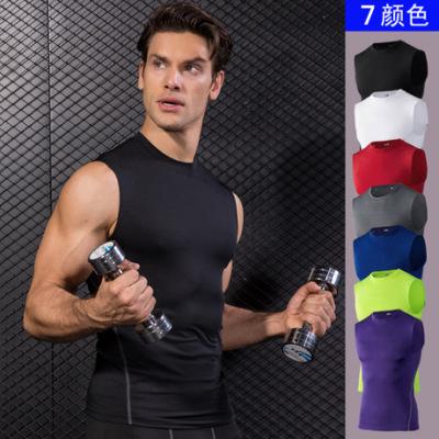男子紧身训练背心 PRO运动跑步健身篮球 弹力速干背心衣服1002