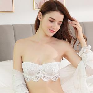 夏季无肩带防滑隐形抹胸式裹胸薄款超薄文胸性感蕾丝内衣女W8030