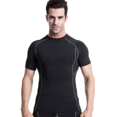 男士紧身训练PRO短袖 健身运动T恤 弹力排汗速干压缩衫衣服1008