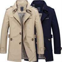 2019秋季男装新款男式夹克休闲跨境男士jacket薄工作外套纯棉风衣