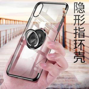 适用苹果iphonexs max手机壳xi8/7/6p电镀保护套磁吸车载支架指环
