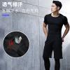 男士运动紧身迷彩服 健身上衣弹力速干塑身T恤厂家直销