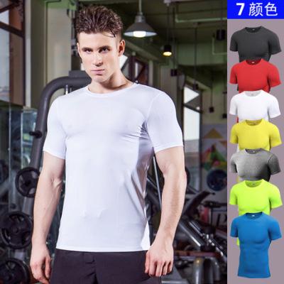男士PRO 健身运动跑步紧身服T恤 亚马逊热卖弹力速干衣短袖衫4001