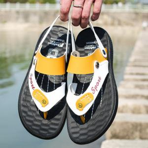 拼色潮流年轻凉鞋两用凉拖防滑男士凉鞋7.19