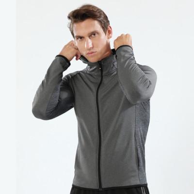 猎星秋冬新款长拉链带帽连帽运动外套男健身服训练跑步外套90123