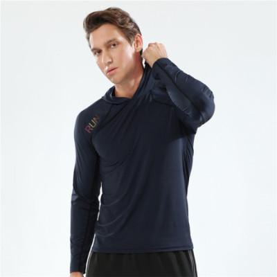 猎星带帽连帽纯色长袖T恤薄运动卫衣速干透气高弹力健身服90114