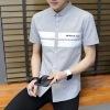 夏季短袖衬衫男士2019新款韩版修身帅气衬衣青年潮流休闲夏装寸衫