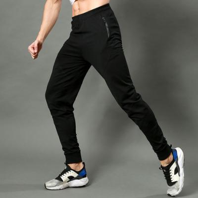 夏运动裤男休闲长裤修身卫裤扎脚束脚裤收脚速干健身跑步长裤1005