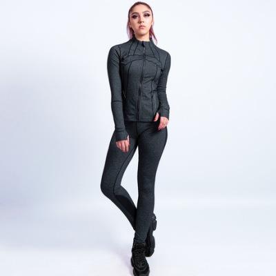 瑜伽服女套装2019新款速干提臀裤修身运动套装户外跑步服两件套