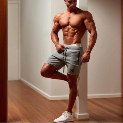 肌肉兄弟男士健身新款运动短裤男款棉质休闲透气跑步训练裤批发