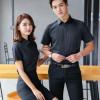 男士商务休闲短袖衬衫韩版修身男式白色衬衣职业正装定制刺绣logo