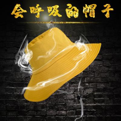 帽子女士夏天新款布帽可折叠双面渔夫帽韩版纯色遮阳帽防晒女盆帽