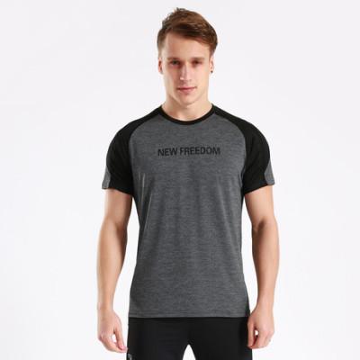 猎星英文字母网眼速干排汗透气健身短袖运动休闲T恤训练服90075