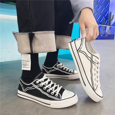 兜川2019春季新款男士帆布鞋透气男鞋港风潮学生鞋时尚休闲鞋6906