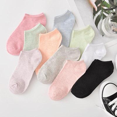 爆款彩棉袜子 糖果色女士棉袜 隐形浅口短袜 船袜裸袜批发袜子