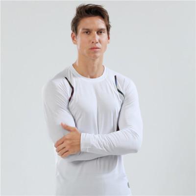 猎星2019秋冬新款圆领长袖速干弹力T恤运动健身跑步训练服90115