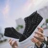 现货批发2019新款高帮帆布鞋男韩版潮流休闲男士板鞋系带学生鞋