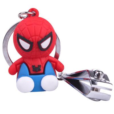 厂家直销蜘蛛侠卡通钥匙扣软胶公仔超人手机包包挂件礼品