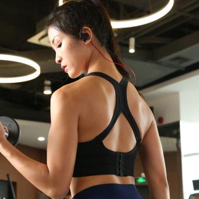 AMI MEDEA原创运动搭扣文胸 无缝瑜伽服内衣健身速干无钢圈高强度