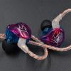 KZ-ZST圈铁耳机入耳式重低音耳机手机音乐双单元带线控重低音耳机