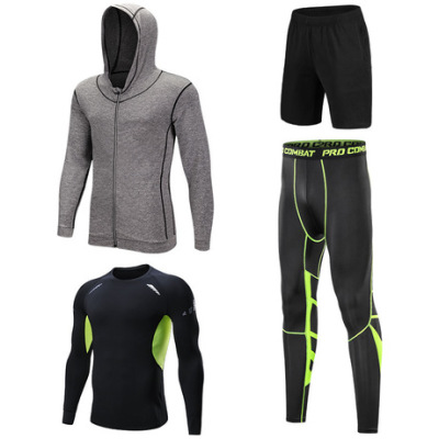跨境新款吸湿排汗男士健身服厂家直销运动跑步健身套装