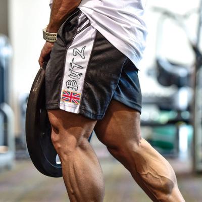 肌肉博士兄弟欧美拼接运动健身短裤男宽松网眼速干透气休闲五分裤