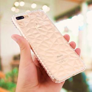 新品XSmax钻石纹手机保护套适用于 XR  XS转音气囊透明手机壳软壳
