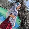 2019尼泊尔复古旅游拍照民族风棉麻围巾  花纹棉麻围巾大披肩丝巾