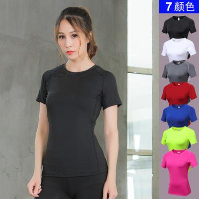 女士紧身PRO 运动健身瑜伽训练跑步 排汗速干短袖T恤弹力衣服2013
